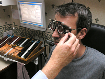 3D OCT Line Scan of an eye